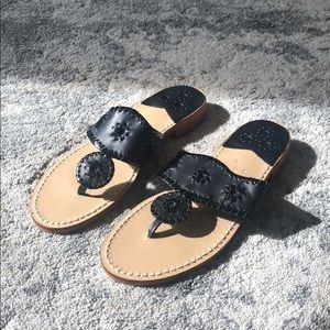 New Jack Roger's Jack's Flat Sandal Black